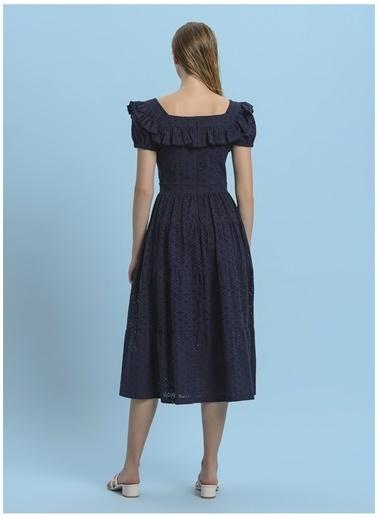Faraway Elbise Lacivert
